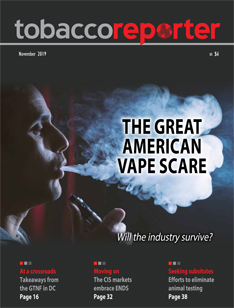 Tobacco Reporter November 2019 cover.